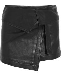 Isabel Marant Hutt Foldover Leather Mini Skirt - Lyst