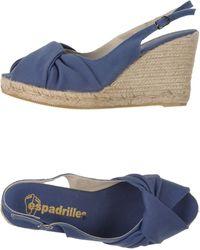 Espadrilles wedges heels wedge sandals - Lyst