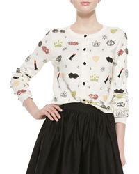 Alice + Olivia Stacey Must Have Beaded Cardigan - Lyst