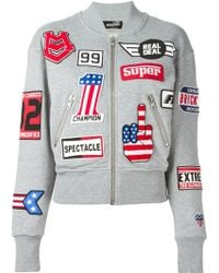 Love Moschino Race Patch Sports Jacket - Lyst