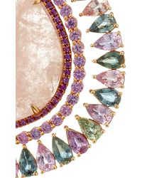 "Shawn Ames - One-Of-A-Kind ""Rainbow Organic"" Morganite, Pink Sapphires, Amethyst And Assorted Color Spinel Earrings - Lyst"