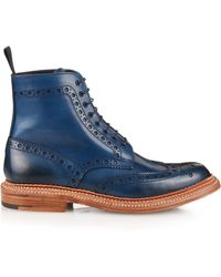 Foot The Coacher - Fred Leather Brogue Boots - Lyst