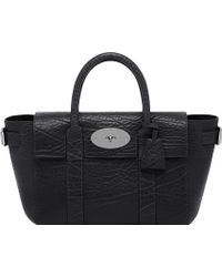 Mulberry Bayswater Buckle Small Leather Tote Black - Lyst