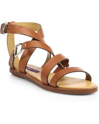 Ralph Lauren Collection Vimiera Leather Sandals - Lyst