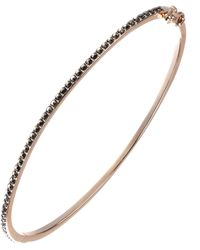 Judith Jack - Gold Solid Bracelet With Marcasite - Lyst