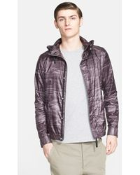 Helmut Lang Men'S Fractured Print Hooded Jacket - Lyst