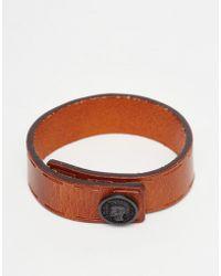 DIESEL - Bracelet In Leather - Lyst