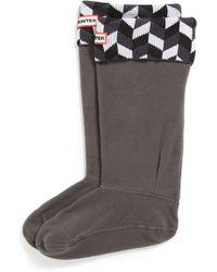 Hunter 'Geometric Dazzle' Original Tall Fleece Welly Socks - Lyst