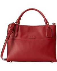 Coach Small Turnlock Burough Refined Pebbled Leather - Lyst