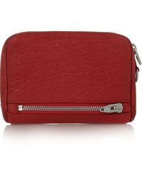 Alexander Wang Textured-leather Wallet - Lyst