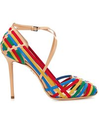 Charlotte Olympia Mariachi Woven Suede Sandals - Lyst