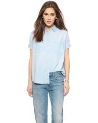 Madewell Chambray Courier Shirt - Bruce Wash - Lyst