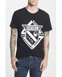 Diesel 'Scod' Graphic T-Shirt - Lyst