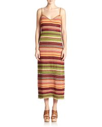 Polo Ralph Lauren Suede-Trim Serape Maxi Dress - Lyst