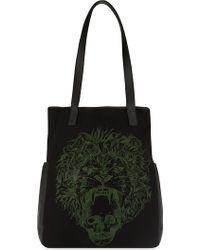 Alexander McQueen Lion Print Tote - For Men black - Lyst