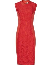 Reiss Riva Floral Lace Shift Dress - Lyst