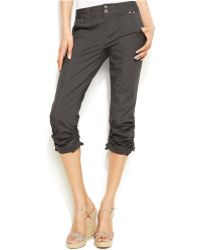 Inc International Concepts Ruched Capri Pants - Lyst