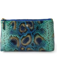 Graphic Image - Blue Pythonprint Cosmetic Case - Lyst