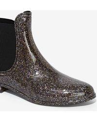 Nasty Gal All That Glitters Chelsea Rain Boot - Lyst