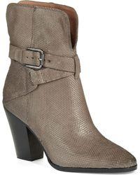 Donald J Pliner Sarje Snakeskin Boots - Lyst