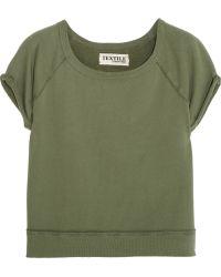 Textile Elizabeth and James   Cotton-Terry Sweatshirt   Lyst