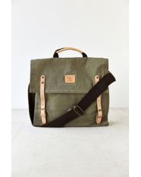 Will Leather Goods - Wax-Coated Canvas Messenger Bag - Lyst