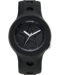 Converse - Unisex Rookie Black Silicone Strap 43mm Vr001001 - Lyst