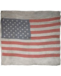 John Varvatos | American Flag Distressed Print Scarf | Lyst