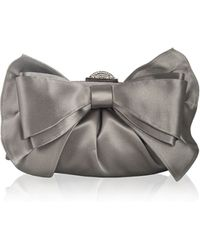 Judith Leiber Couture Madison Satin Bow Clutch Bag - Lyst
