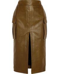 Balmain Leather Pencil Skirt - Lyst