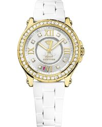 Juicy Couture - Ladies Pedigree Gold Plated And Crystal Watch - Lyst