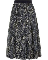 Weekend by Maxmara Egizio Jacquard Midi Skirt gray - Lyst