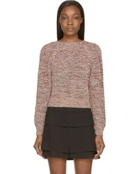 Givenchy White And Coral Knit V_Back Sweater - Lyst