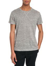 Eleven Paris Gatri Dark Heather Grey Linen T-Shirt - Lyst