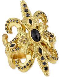 Armenta - Sueño Black Sapphire & 18K Gold Scroll Ring - Lyst