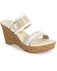 Onex 'Bettina' Two-Strap Slide Sandal - Lyst