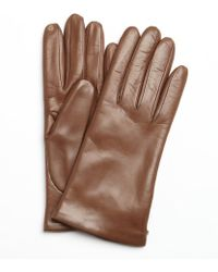 Portolano Pine Brown Nappa Leather Itouch Tech Gloves - Lyst