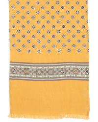 Gucci Orange Silk Pattern Printed Scarf - Lyst