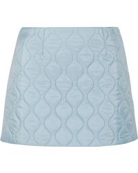 Miu Miu Quilted Shell Mini Skirt - Lyst