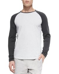 Vince Slub Long-Sleeve Baseball T-Shirt - Lyst
