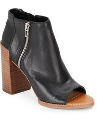 Dolce Vita Mercy Leather Open-Toe Ankle Boots - Lyst