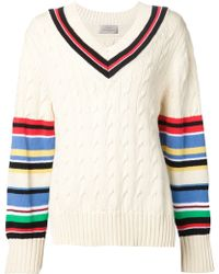 Preen Striped Knitted Sweater - Lyst