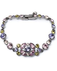 Givenchy Hematite-tone and Mixed Stone Cluster Bracelet - Lyst