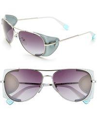 Furla Women'S 58Mm Aviator Sunglasses - Silver/ Smoke Gradient Lens - Lyst