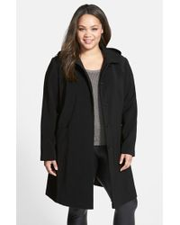 Gallery - Pickstitch Detail Nepage Walking Coat With Removable Hood - Lyst