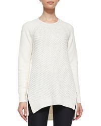 Rebecca Taylor Ziphem Knit Pullover - Lyst