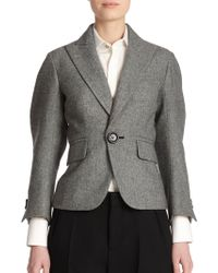 DSquared² Olechka Virgin Wool Peplum Jacket black - Lyst