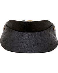 Zimmermann - Tooled Floral Leather Visor - Lyst