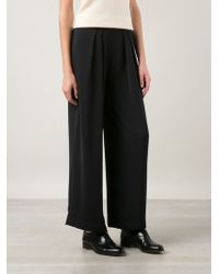 The Row Black Pleated Trousers - Lyst