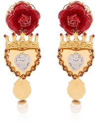 Dolce & Gabbana Sacred Heart Earrings red - Lyst